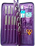 Best Knitting Needles Sets - Yosoo 104 pcs Stainless Steel Straight Circular Knitting Review