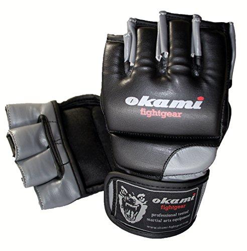 OKAMI Fightgear DX MMA Handschuhe, Schwarz, L