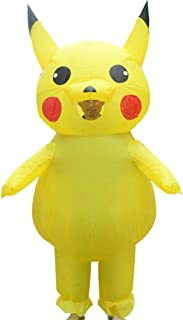 Inflatable Clothing Cartoon Doll Pikachu Cute Role Playing Fantasy Fancy Christmas Decoration Playing Cartoon Costume, Yellow