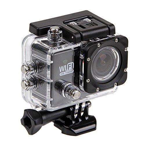 Kingwon Funda Protectora para Cámaras de Acción SJ6000/ Campark ACT58 y más modelos de cámaras deportivas,diseño impermeable y apto para buceo