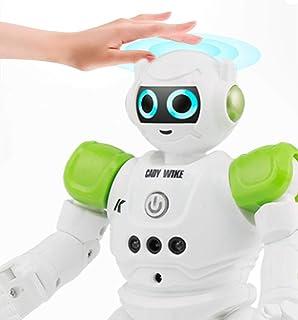 ロボット 子供のおもちゃ ラジコンロボット玩具 歌うことができる 踊ることができる 遠隔操作 手振り制御 (グリーン) [並行輸入品]