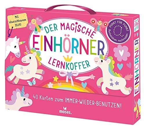 Der magische Lernkoffer Einhörner: 40 Karten zum IMMER_WIEDER_BENUTZEN!