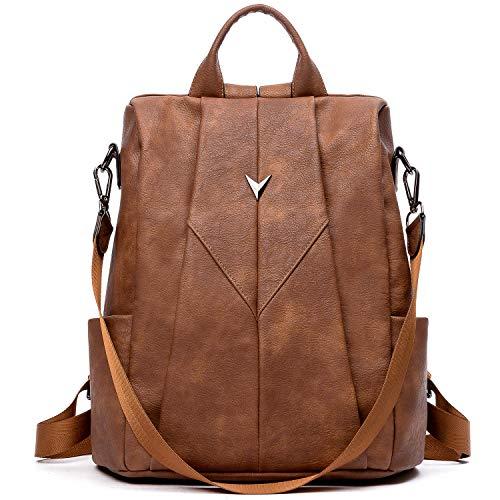 WESTBRONCO Women Backpack Purse PU Leather Anti-Theft Fashion Designer Backpack Ladies Shoulder Satchel Bag