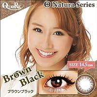 カラコン 度あり 1箱1枚入り QuoRe Natura Series/ソブレ/119218 14.5mm【BrownBlack--5.50】