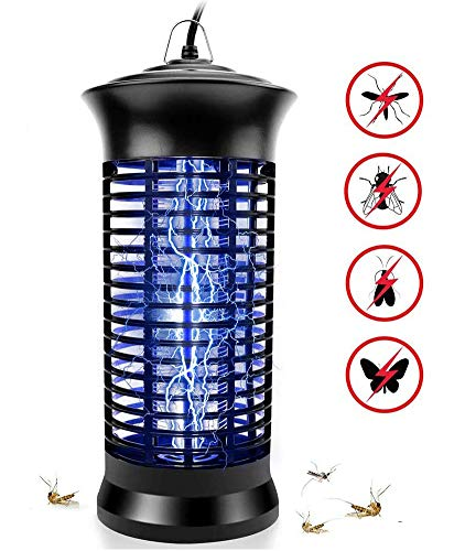 Electric Bug Zapper, Powerful Insect Killer, Mosquito Zappers, Mosquito lamp, Light-Emitting Flying Insect Trap for Indoor(Black).