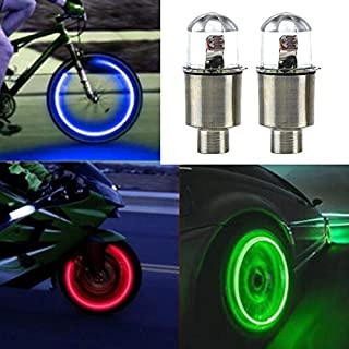 Quality Bicycle Accessories, 2 PCS Bike Supplies Neon Strobe LED Tire Valve Caps Lights,Outdoor Sports Accessories