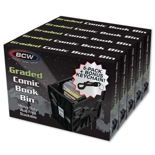 BCW Graded Comic Book Bin for Comic Book Storage - 5-PACK...