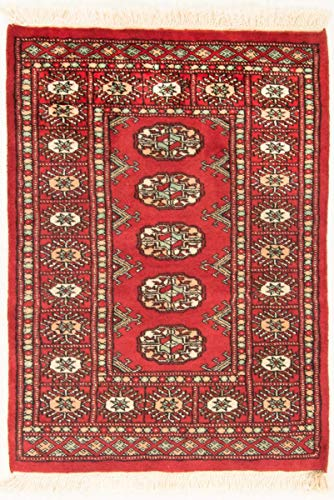 Nain Trading Pakistan Buchara 3ply 92x66 Orientteppich Teppich Rot Handgeknüpft Pakistan