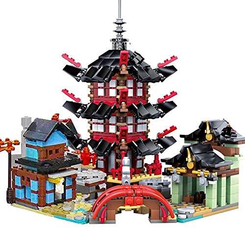 HYLL Bausteine 2020 City Sets Airjitzu Temple 737 + PCS DIY Baustein Geburtstagsgeschenke Spielzeug für Kinder