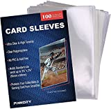 100 Packs Loader Penny Card Sleeves for Trading Card, Ultra Clear SoftBoard Game Toploaders, Standard Size Penny Sleeves Compatible with Baseball Card, MTG, Football Cards