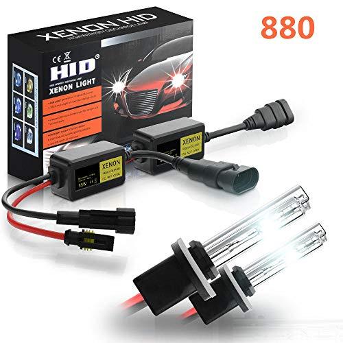 SYLOZ-URG 2pcs Car Hid Xenon Faros Faros lámpara de Niebla Xenon Light Bulbs Set 55W 3200LM 6000K / 8000K URG (Color : 880)