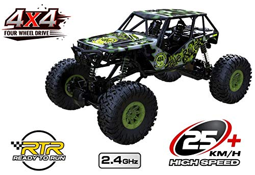Unbekannt RC 2,4 Ghz Rock Crawler The Beast 4WD Allrad ferngesteuertes Auto Fast 1/2 Meter lang Rennauto Monster Truck Buggy