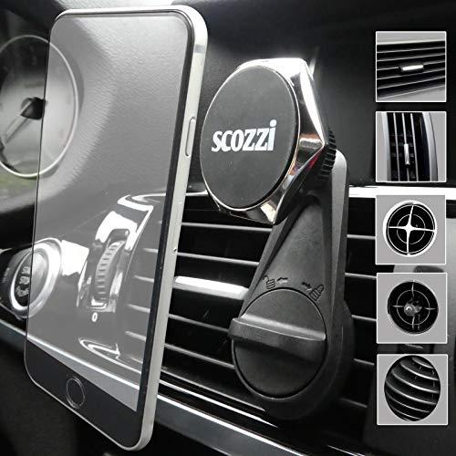 scozzi 360° Handyhalterung Auto Magnet Lüftung Lüftungsschlitz KFZ Handy Halterung universal (kompatibel mit Samsung & iPhone) S21 S20 S10 S9 S8 A71 A51 A50 M51 12 11 X XS XR Mini Plus Ultra Max Pro