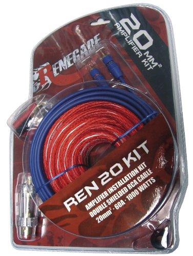 Renegade REN20KIT Audio–Adapter für Kabel (Male/Male, Kabel, Power Adapter, Audio, Ground, Remote, RCA, RCA, Nickel) schwarz, blau, rot
