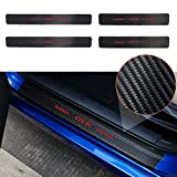 Thenice for 10th Gen Civic Door Entry Guard Sticker Carbon Fiber Style Threshold Bar Anti-Dirty Scuff Plate for Honda Civic Door Sill Protector -Red