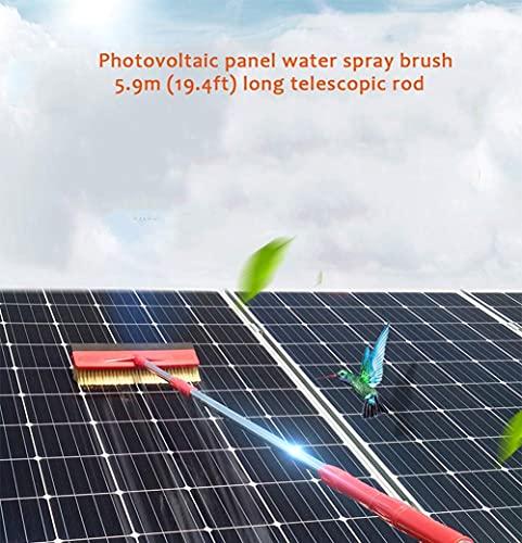 Polo De Limpieza De Ventanas Cepillo De Pulverización De Agua Multiusos Herramienta De Limpieza De Paneles Fotovoltaica Limpiador Extensible 4.7M (15.4 Pies)