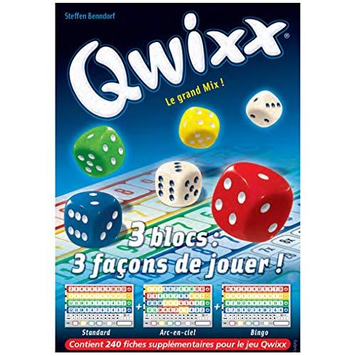 GIGAMIC jnqr–Würfelspiel–Qwixx–Nachfüllpack Block-Score–3x 80Stecker