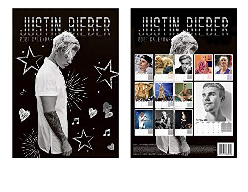 PARA ESTRENAR JUSTIN BIEBER CALENDARIO 2021 WITH JUSTIN BIEBER WARNING DOOR SIGN