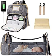 Babmoge Diaper Bag Backpack, Multifunction Travel Back Pack Maternity Baby Nappy Changing Bags with Changing Pad & Stroller Straps, Waterproof Baby Bag for Boys Girls, Large Capacity, Unisex