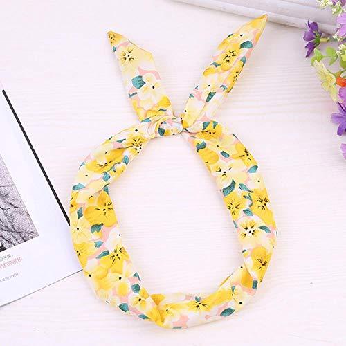 Miner Fashion Women Cute Flowers Ears Bequemes Waschgesicht Badehaarhalter Elastisches Stirnband Mädchen Haarbänder Haarschmuck, P3