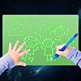 Light Drawing Board for Kids, ELICE A4 Light Drawing Pad Draw with Light, Magic Pad Light up Drawing Pad for Kids with Magic Pens, Painting Writing Board Educational Toys for Kids Toddlers Boys Girls