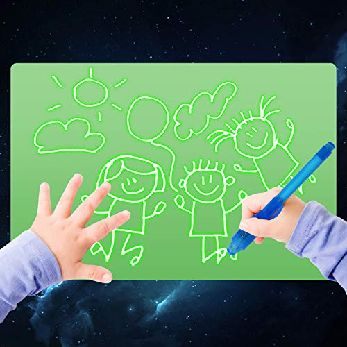 Light Drawing Board for Kids, ELICE A5 Light Drawing Pad Draw with Light, Magic Pad Light up Drawing Pad for Kids with Magic Pen, Painting Writing Board Educational Toys for Kids Toddlers Boys Girls