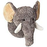 Knuffelz Stofftier Elfie Elefant zum kuscheln - Wanddeko Tierkopf Trophäe für Kinderzimmer