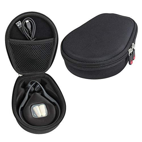 Hermitshell Hard Case fits AfterShokz Trekz Air / AfterShokz Aeropex / Titanium Mini Open Ear Wireless Bone Conduction Headphones AS650 / AS800 (Black) (Only Case)