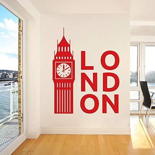 woyaofal Big Ben Vinyl Wandaufkleber Wohnkultur Wohnzimmer Großbritannien London Uhr Aufkleber Schlafzimmer Dekoration Kunst Poster 80X103 cm