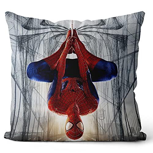 DUANGONGZI Taies d oreiller décoratives Spiderman Housses de Coussin pour l intérieur et l extérieur (terrasse, Voiture, etc.) 45x45cm