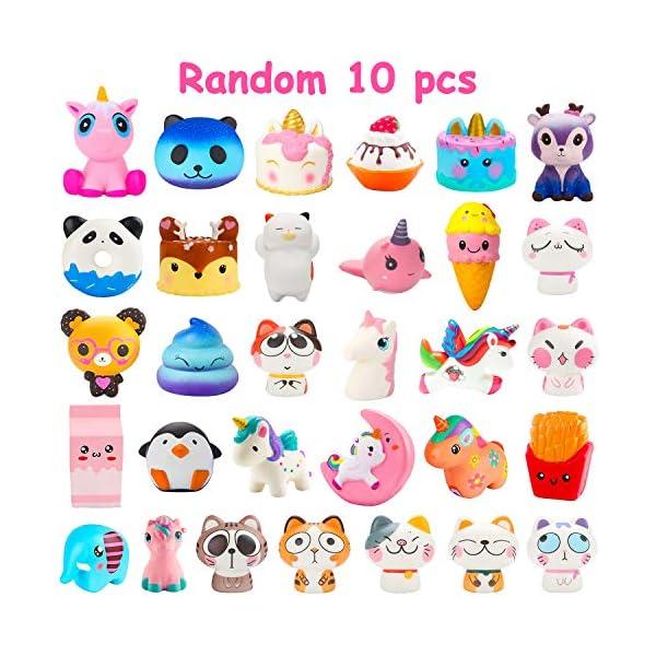 BeYumi Slow Rising Toy, Unicorn, Panda, Deer, Cat Squishy Toy, Kawaii Jumbo 10 Pcs Cream Scented Simulation Cute Animal… 5