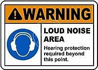 うるさい メタルポスタレトロなポスタ安全標識壁パネル ティンサイン注意看板壁掛けプレート警告サイン絵図ショップ食料品ショッピングモールパーキングバークラブカフェレストラントイレ公共の場ギフト