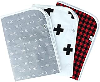 "Chunky Chops | Premium Changing Pad Liner | Waterproof | 3 Count | 27.5"" X 19.5"" Plaid"