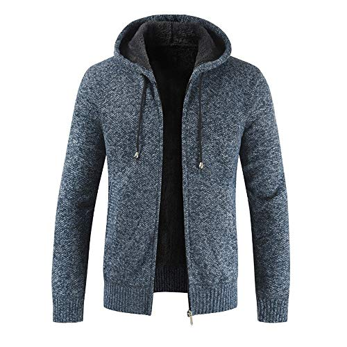 BaZhaHei 2019 Neue Herren Slim Fit Herbst Winter Reißverschluss Fleece Hoodie Outwear Tops Pullover Bluse Mantel Cardigan Sweatshirt Sweatjacke Oversize Strickjacke