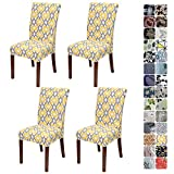 JOTOM Stretch Modern Dining Chair Covers Chair Protector Removable Soft Spandex Dining Chair Slipcovers for...