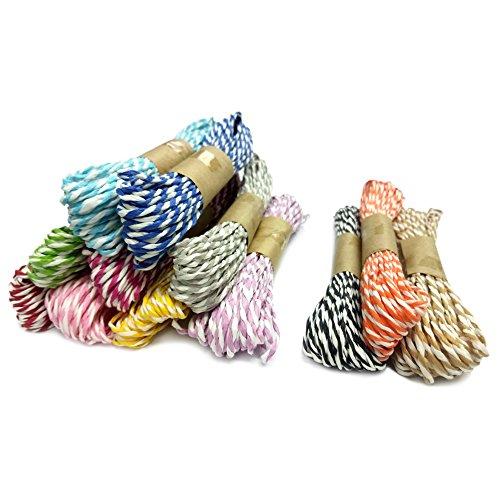 G2PLUS 12 Farben Dekokordel Schnur Raffia Schnur, 10 M Papier Paketschnur Bindfäden Bastelschnur für DIY Kunstgewerbe