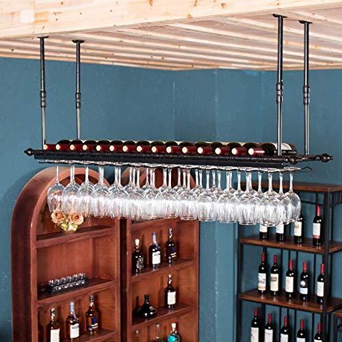 Wine Racks Wine Glass Rack,Suspension Creative Wine Rack,Upside Down Iron Red Wine Glass Frame,Bar Household Wine Cup Holder Stemware Racks (Color : Black, Size : 12030CM)