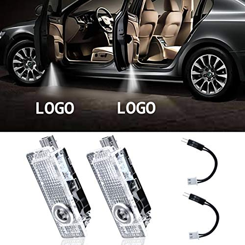 Eogifee LED Car Door Light Projector Courtesy LED Laser Welcome Lights Ghost Shadow Light Logo Lamps for The Replacement of BMW 3/5/6/7/Z/GT Mini (2 Pack)