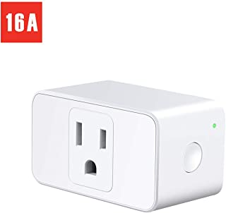 Meross WiFi Smart Plug Mini, 16 Amp & Reliable Wifi Connection Powered by Mediatek Chipset, Alexa and Google Voice Control, App Remote Control, Timer, Occupies Only One Socket, No Hub Needed