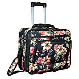 World Traveler Women's Fashion Print Rolling 17' Laptop Case-Rose Lily, One Size
