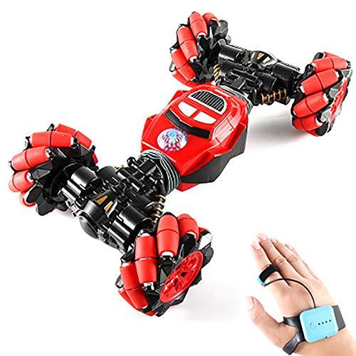 Speelgoed auto, horloge Afstandsbediening speelgoed auto vervorming Rock Climbing, gebaar Sensing Lateral Drift afstandsbediening speelgoed auto,Red
