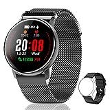 CanMixs Smartwatch, CM12 Reloj Inteligente Pulsera de Actividad Impermeable IP67 Pulsera Inteligente con Podómetro, Monitor de Sueño, SMS Notificación etc para Hombre Mujer Niños iOS y Android