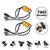 7440 harness - HOCOLO 7443 7440 7441 Turn Signal Light or Backup Light LED Resistor Kit Relay Harness Adapter Anti Flicker Error Decoder Warning Canceller (2pcs 7443-Resistor Decoder)