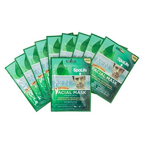 SpaLife Hydrating, Purifying, Anti-Aging, Detoxifying and Soothing Korean Facial Masks - 10...