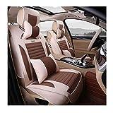 H.JPT autositzbezügeElegant Linen/Flax Car Seat Covers, Super Breathable Adjustable Seat Cushions Enjoy Driving Fun (Color : Coffee Color)