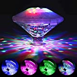 Swimming Pool Lights, (7 Lighting Modes) Colorful Bathtub Toy Lights for Disco Pool or Hot Tub, Floating Pool Lights, Pool Accessories Pond Decor