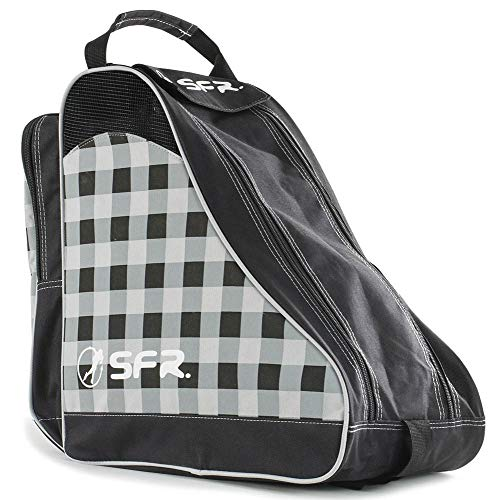 Sfr Skates Designer Ice & Skate Bag, Sacs de plage mixte adulte, Noir (Black Chequered), 24x15x45 cm (W x H L)
