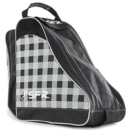 Sfr Skates Unisex-Erwachsene SFR Designer Ice & Skate Bag Stofftasche, Schwarz (Black Chequered), 24x15x45 centimeters