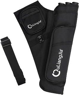 MagiDeal 3 Tube Arrow Quiver Archery Arrows Holder Bag With Detachable Waist Belt