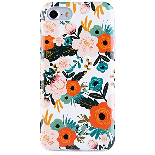Dimaka Case for iPhone 7, 8, and iPhone SE, Cute Floral Flower Design for Girls,Heavy Two-Tier Shockproof with Soft TPU Inside Protective Cases for iPhone se,iPhone 7 and 8(Obsession Camellia)